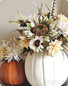 DIY Fall Pumpkin Vases