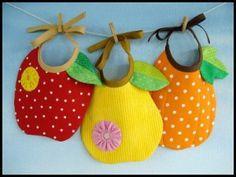 Download Apple, Pear & Pumpkin Bibs Sewing Pattern | Baby Sewing Patterns for Download | YouCanMakeThis.com