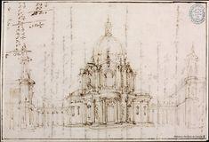[Proyecto de iglesia]. Juvarra, Filippo 1678-1736 — Dibujo — 1706
