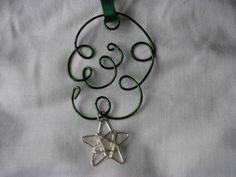Ornament or suncatcher dark green Kelly green by KatKeRosCorner