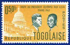 JFK - Capitol & Presidents Stamp - Togo #432 Stamp - AF TG 432-2