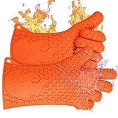 Ekogrips BBQ Oven Gloves Best Versatile Heat Resistant Grill Gloves Lifetime Replacement Insulated Silicone Oven Mitts For Grilling Waterproof Full Finger Hand Wrist Protection 3 Sizes ** For more information, visit image link. (This is an affiliate link) Dishwashing Gloves, Best Gloves, Heat Resistant Gloves, Kitchen Oven, Best Bbq, Oven Glove, Fireplace Accessories, Outdoor Cooking, Hand Wrist