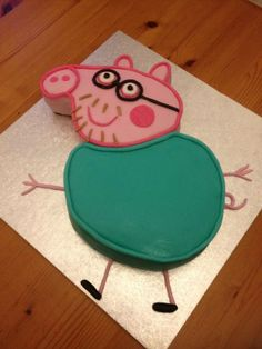 Daddy Pig cake. From Peppa Pig.