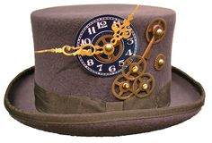 Raven Gothic Steampunk/victorian charcoal grey top hat #Raven #SteampunkVictorianGothic