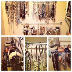 Organize your jewelry! It's all from Ikea in the kitchen section! Really inexpensive and handy!