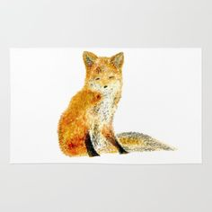 A Personal Favorite From My Etsy Https Www Fox Nurserywoodland Nurserywhite Area Rugwhite Foxarea Rugsfonurseriesetsy