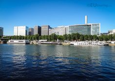 Looking over the River Seine towards the office buildings of the RATP - the public transport company of Paris.  Daily updates at www.eutouring.com/images_river_seine.html