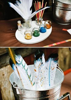 dream catcher adoption shower paint your own feather