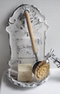 soap and brush...