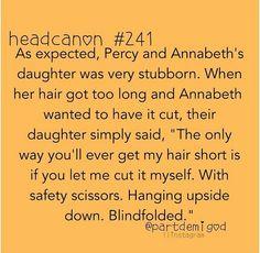 Headcanon #241 Percabeth's daughter!