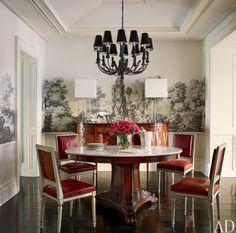 Wallpaper and Light Fixture