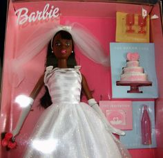 Wedding Barbie.  She comes with all her wedding accessories...