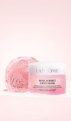 A five-minute cooling face mask that instantly re-energizes skin and reveals a rosy glow as it works to tighten pores, smooth skin texture and even skin tone. Sorbet, Tighten Pores, Best Face Mask, Even Skin Tone, Anti Aging Serum, Skin Care Regimen, Smooth Skin, Lancome, Good Skin