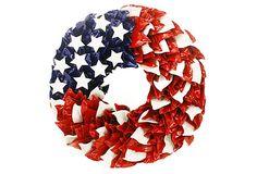 "23"" Patriotic Wreath on OneKingsLane.com"