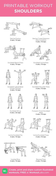 Shoulder Workout | Posted by: NewHowtoLoseBelly... Do it in style with Squaterella.com #squaterella