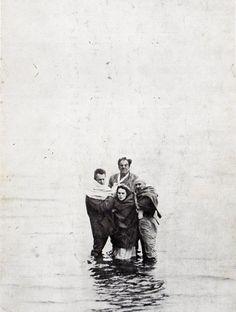on the set of Cul-de-sac, dir. by Roman Polanski