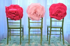 cute Chair Toppers, alternative to wedding chair covers