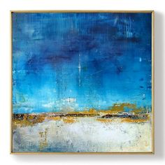 """Exceptional """"abstract art paintings tutorial"""" info is offered on our website. Have a look and you wont be sorry you did. Blue Abstract Painting, Abstract Canvas, Oil Painting On Canvas, Abstract Paintings, Watercolor Painting, Painting Art, Watercolor Artists, Landscape Paintings, Painting Lessons"""