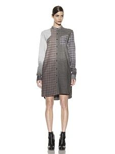 Alexander McQueen you are a visionary. Except here. This homeless-chic McQ women's shirt dress might as well come with its own cardboard sign for donations.