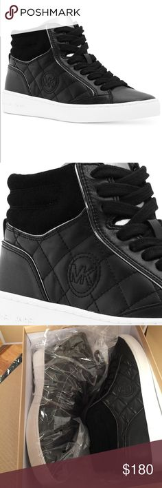 Michael Kors Paige quilted high top Sneakers New in the box. Very cute on. U can dress up however u want with this shoes.❤️❤️❤️ MICHAEL Michael Kors Shoes Sneakers