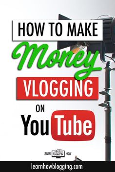 Learn how to make money vlogging on YouTube!  You can make a living posting videos on YouTube.  When you have a business plan and a content strategy for monetizing your vlog, you will be able to turn your vlog into an online business!  Learn how some of t