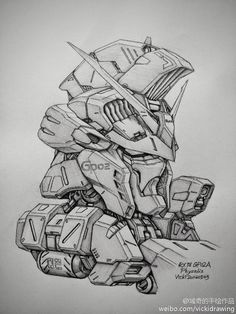 GUNDAM GUY: Awesome Gundam Sketches by VickiDrawing [Updated 1/20/15]
