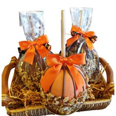 Gourmet Chocolate Caramel Apple Gift Basket