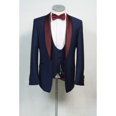 made to measure royal blue dinner suit lining