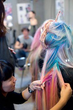 "Urban Hair Color Trends | Wella Trend Vision 2014 • ""Urban Native"" Super long, fishtail ..."