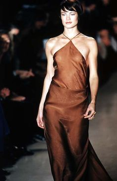 carolyn murphy DONNA KARAN label by donna karan - Spring Summer 1997 New York Fashion Week -