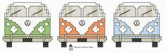 Totally groovy free cross stitch chart at hancock's house of happy: VW Van