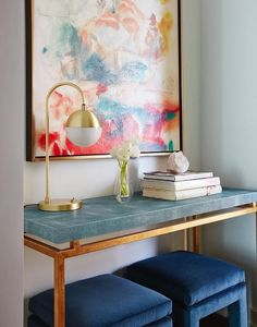 Made Goods Benjamin Console in Turquoise