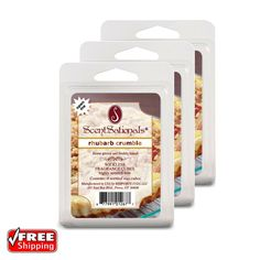 3-Pack ScentSationals Rhubarb Crumble Fragrance Scented Wax Cubes Melts Tarts | Home & Garden, Home Décor, Home Fragrances | eBay!