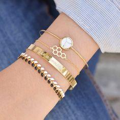 Majolie  - Life is Gold Bangle Bracelet -   - 1