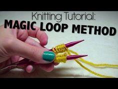 (22) Knitting Tutorial - Magic Loop Method - YouTube