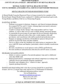 Mental Health Counselor Resume Objective Resume Template