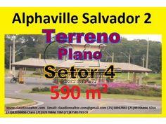 Terreno a venda em Alphaville Salvador 2, Plano, 590 m², setor 4