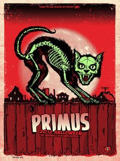 Primus Band Poster - The only band that ever had the lead sound a Bass Guitar.