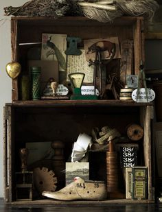 Nice display of vintage items