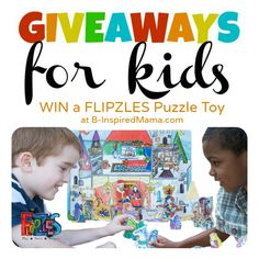 Giveaways for Kids Monday [Flipzles Puzzle Giveaway]