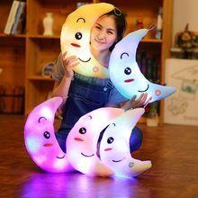 Conduziu a Luz da lua Travesseiro almofadas decorativas travesseiro Luminosa Brinquedos crianças Brinquedos de Natal Presente de Aniversário brinquedos Decorativos