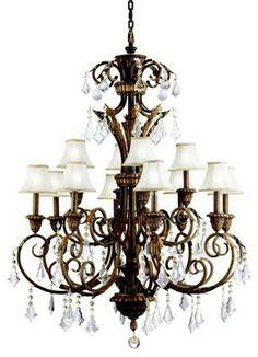 Kichler Lighting - 2131RVN - Ravenna - Twelve Light Chandelier traditional chandeliers
