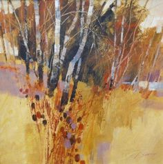 Chris Forsey painting in Acrylics