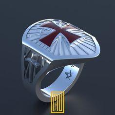 El diseño único del anillo de caballeros por MuDesignJewelry