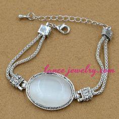 Nice gemstone decoration alloy chain