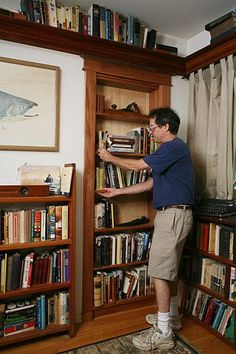 How To Actually Build And Install A Hidden Bookcase Door. Not Just A  Picture Of