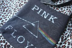 PINK FLOYD  Upcycled Rock Band Tshirt Sling Tote Bag by evilrose, $28.50