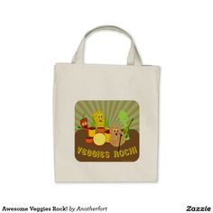 Awesome Veggies Rock! Tote Bag