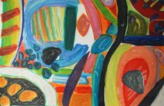 Gillian Ayres Contemporary Abstract Art, Modern Art, Patrick Heron, Art Courses, Realism Art, Vibrant Colors, Colorful, Figure Painting, Three Dimensional