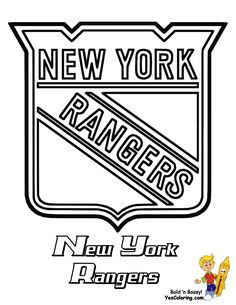 images of the new york rangers hockey logos | New York Rangers NHL Ice Hockey Printout -Click For Big Image to Print ...